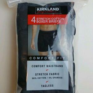 NEW Kirkland Signature Mens 4-Pack Stretch Briefs